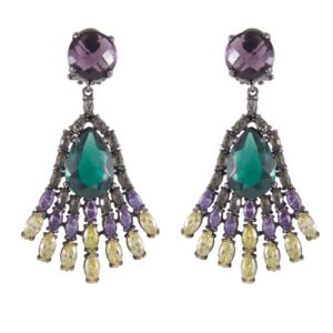 Synthetic Gemstone Earrings